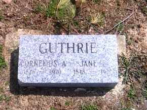 GUTHRIE, JANE E. - Shelby County, Ohio | JANE E. GUTHRIE - Ohio Gravestone Photos