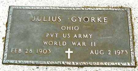 GYORKE, JULIUS - Shelby County, Ohio | JULIUS GYORKE - Ohio Gravestone Photos