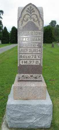 HAGEMAN, F. MARION - Shelby County, Ohio | F. MARION HAGEMAN - Ohio Gravestone Photos