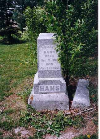 HANS, GEORGE - Shelby County, Ohio | GEORGE HANS - Ohio Gravestone Photos