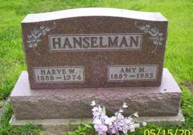 HANSELMAN, HARVE W. - Shelby County, Ohio | HARVE W. HANSELMAN - Ohio Gravestone Photos