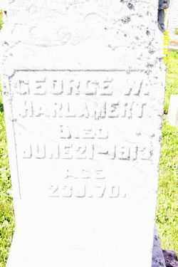 HARLAMERT, GEORGE W - Shelby County, Ohio | GEORGE W HARLAMERT - Ohio Gravestone Photos