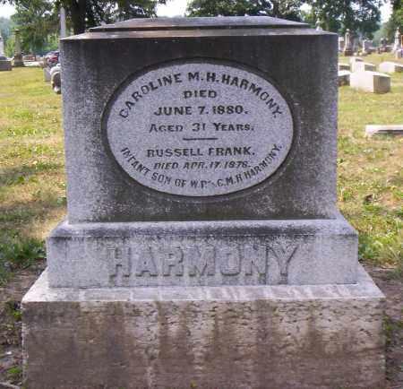 HARMONY, CAROLINE M. H. - Shelby County, Ohio | CAROLINE M. H. HARMONY - Ohio Gravestone Photos