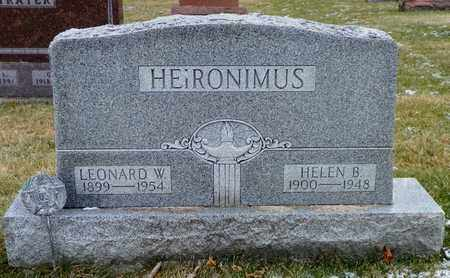 HEIRONIMUS, LEONARD W. - Shelby County, Ohio | LEONARD W. HEIRONIMUS - Ohio Gravestone Photos
