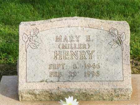 MILLER HENRY, MARY E. - Shelby County, Ohio | MARY E. MILLER HENRY - Ohio Gravestone Photos
