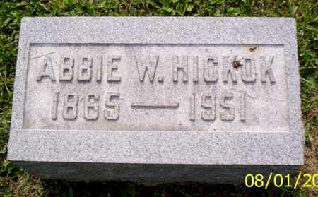 HICKOK, ABBIE W. - Shelby County, Ohio | ABBIE W. HICKOK - Ohio Gravestone Photos