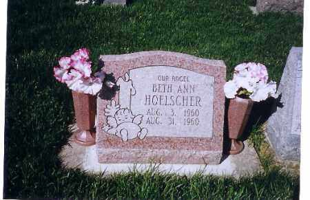 HOELSHER, BETH ANN - Shelby County, Ohio | BETH ANN HOELSHER - Ohio Gravestone Photos