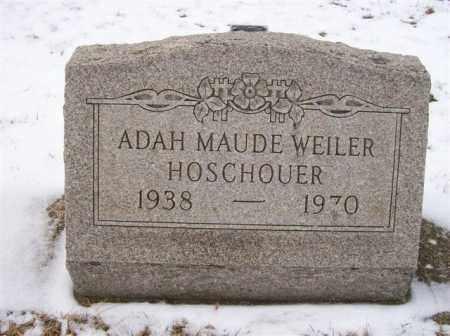 WEILER HOSCHOUER, ADAH MAUDE - Shelby County, Ohio | ADAH MAUDE WEILER HOSCHOUER - Ohio Gravestone Photos