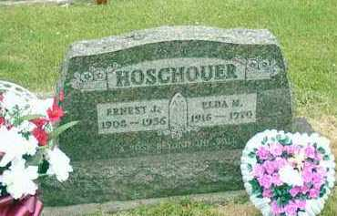 HOSCHOUER, ERNEST JENNINGS - Shelby County, Ohio | ERNEST JENNINGS HOSCHOUER - Ohio Gravestone Photos
