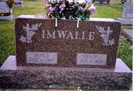 IMWALLE, IRENE D. - Shelby County, Ohio | IRENE D. IMWALLE - Ohio Gravestone Photos