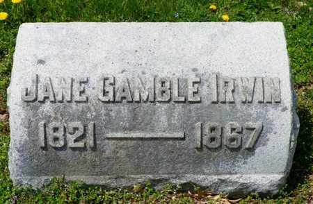 GAMBLE IRWIN, JANE - Shelby County, Ohio | JANE GAMBLE IRWIN - Ohio Gravestone Photos