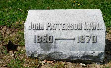 IRWIN, JOHN PATTERSON - Shelby County, Ohio | JOHN PATTERSON IRWIN - Ohio Gravestone Photos