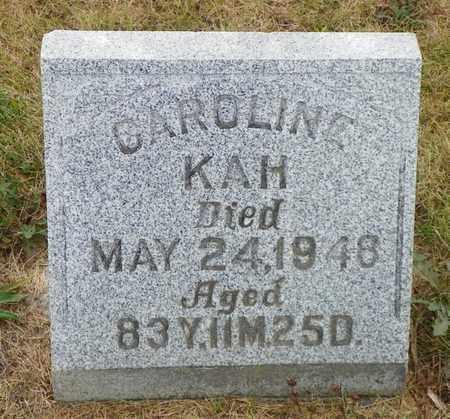 KAH, CAROLINE - Shelby County, Ohio | CAROLINE KAH - Ohio Gravestone Photos