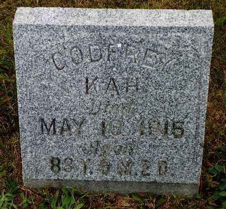 KAH, CODFREY - Shelby County, Ohio | CODFREY KAH - Ohio Gravestone Photos