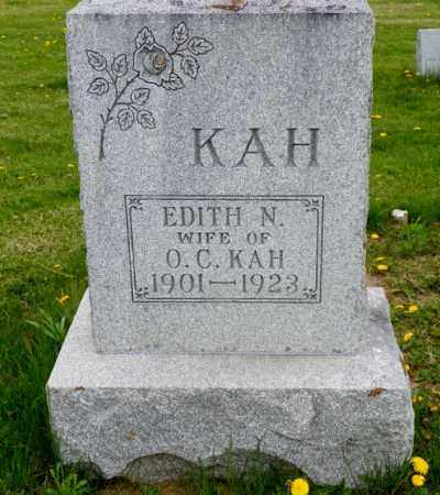 KAH, EDITH N. - Shelby County, Ohio | EDITH N. KAH - Ohio Gravestone Photos