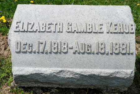GAMBLE KEHOE, ELIZABETH - Shelby County, Ohio | ELIZABETH GAMBLE KEHOE - Ohio Gravestone Photos