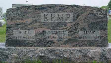 KEMP, LIBBIE - Shelby County, Ohio | LIBBIE KEMP - Ohio Gravestone Photos