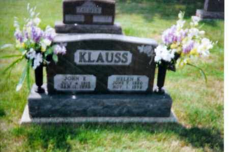 KLAUSS, JOHN E. - Shelby County, Ohio | JOHN E. KLAUSS - Ohio Gravestone Photos