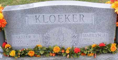 KLOEKER, LESTER - Shelby County, Ohio | LESTER KLOEKER - Ohio Gravestone Photos