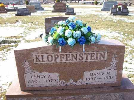 KLOPFENSTEIN, HENRY A. - Shelby County, Ohio | HENRY A. KLOPFENSTEIN - Ohio Gravestone Photos