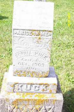 KUCK, SOPHIA - Shelby County, Ohio | SOPHIA KUCK - Ohio Gravestone Photos