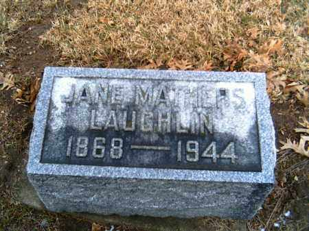 MATHERS LAUGHLIN, JANE - Shelby County, Ohio | JANE MATHERS LAUGHLIN - Ohio Gravestone Photos