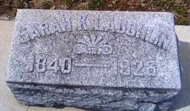 LAUGHLIN, SARAH K. - Shelby County, Ohio | SARAH K. LAUGHLIN - Ohio Gravestone Photos