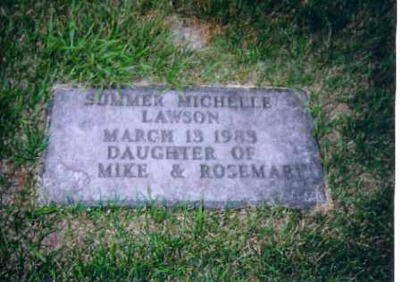 LAWSON, SUMMER MICHELLE - Shelby County, Ohio | SUMMER MICHELLE LAWSON - Ohio Gravestone Photos