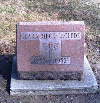 RIECK LECLEDE, CLARA - Shelby County, Ohio | CLARA RIECK LECLEDE - Ohio Gravestone Photos