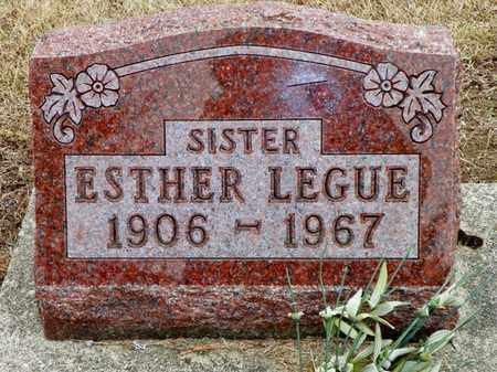 LEGUE, ESTHER - Shelby County, Ohio | ESTHER LEGUE - Ohio Gravestone Photos