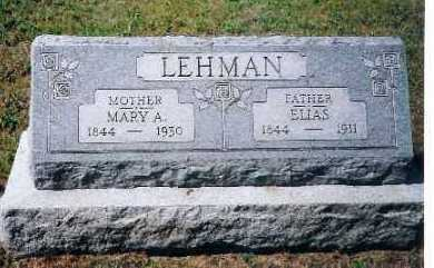 LEHMAN, MARY A. - Shelby County, Ohio | MARY A. LEHMAN - Ohio Gravestone Photos