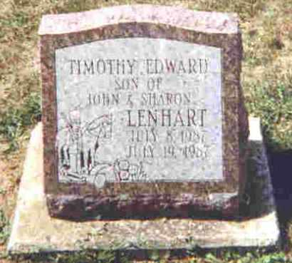 LENHART, TIMOTHY E. - Shelby County, Ohio | TIMOTHY E. LENHART - Ohio Gravestone Photos