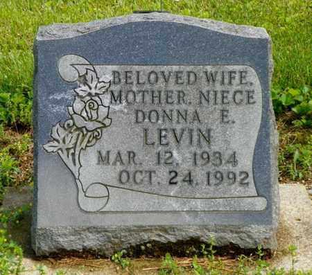 LEVIN, DONNA E. - Shelby County, Ohio | DONNA E. LEVIN - Ohio Gravestone Photos
