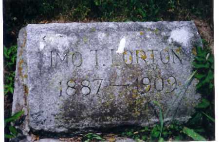 LORTON, IMO T. - Shelby County, Ohio | IMO T. LORTON - Ohio Gravestone Photos
