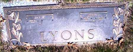 LYONS, JAY WOODROW - Shelby County, Ohio | JAY WOODROW LYONS - Ohio Gravestone Photos