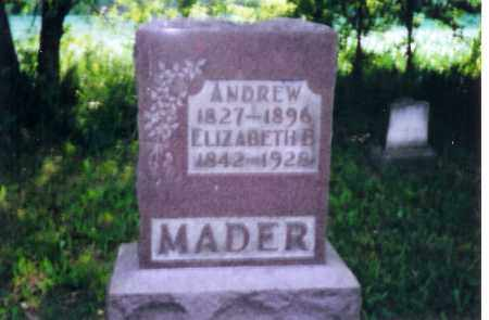 MADER, ELIZABETH B. - Shelby County, Ohio | ELIZABETH B. MADER - Ohio Gravestone Photos