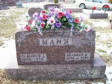 MANN, FRANCES M - Shelby County, Ohio | FRANCES M MANN - Ohio Gravestone Photos