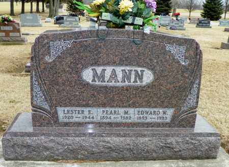 MANN, EDWARD W. - Shelby County, Ohio | EDWARD W. MANN - Ohio Gravestone Photos