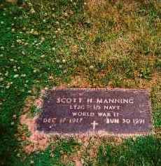 MANNING, SCOTT H - Shelby County, Ohio | SCOTT H MANNING - Ohio Gravestone Photos