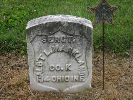 MARKLAND, ALBERT L. - Shelby County, Ohio | ALBERT L. MARKLAND - Ohio Gravestone Photos