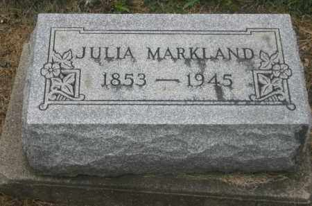 MARKLAND, JULIA - Shelby County, Ohio | JULIA MARKLAND - Ohio Gravestone Photos