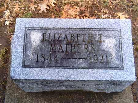 MATHERS, ELIZABETH T. - Shelby County, Ohio | ELIZABETH T. MATHERS - Ohio Gravestone Photos