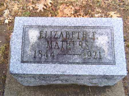 MATHERS, ELIZABETH T. - Shelby County, Ohio | ELIZABETH T. MATHERS - Ohio Gravestone Photos