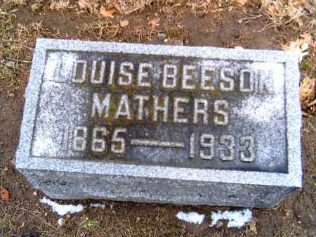 BEESON MATHERS, LOUISE - Shelby County, Ohio | LOUISE BEESON MATHERS - Ohio Gravestone Photos