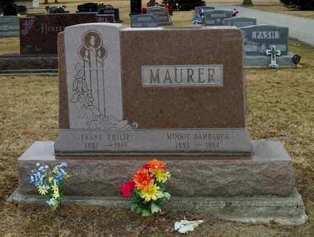 BAMBAUER MAURER, MINNIE - Shelby County, Ohio | MINNIE BAMBAUER MAURER - Ohio Gravestone Photos