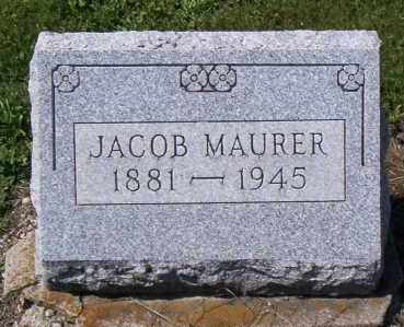 MAURER, JACOB - Shelby County, Ohio | JACOB MAURER - Ohio Gravestone Photos