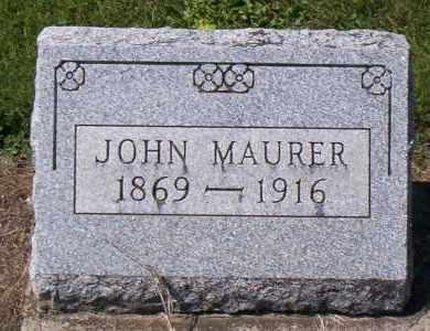 MAURER, JOHN - Shelby County, Ohio | JOHN MAURER - Ohio Gravestone Photos