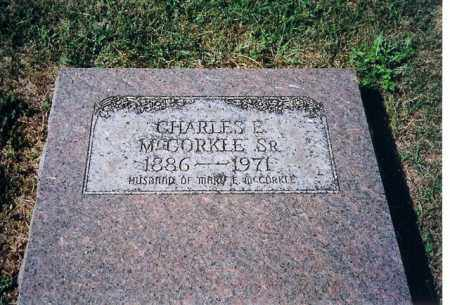 MCCORKLE SR, CHARLES E - Shelby County, Ohio | CHARLES E MCCORKLE SR - Ohio Gravestone Photos