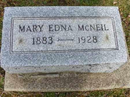 MCNEIL, MARY EDNA - Shelby County, Ohio | MARY EDNA MCNEIL - Ohio Gravestone Photos