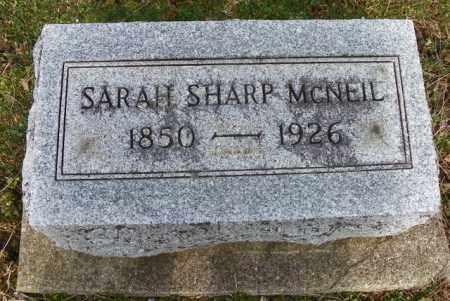 SHARP MCNEIL, SARAH - Shelby County, Ohio | SARAH SHARP MCNEIL - Ohio Gravestone Photos